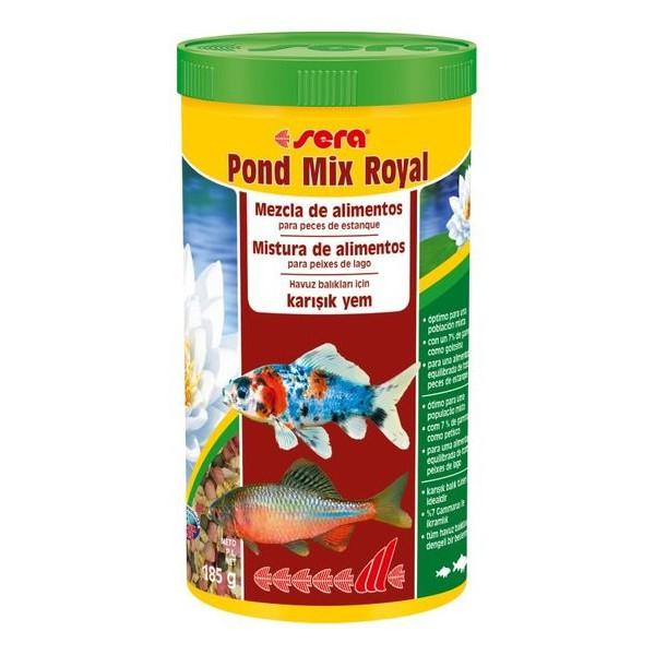 Comida para peces estanque sera mix royal 1000 ml mezcla for Comida peces estanque