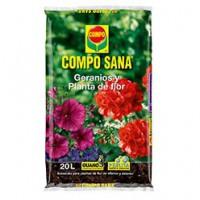 COMPO SANA GERANIOS y planta de flor 20 LTS.