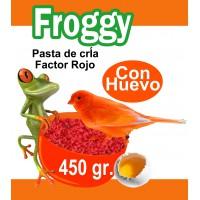 FROGGY PASTA DE CRIA PIGMENTANTE ROJO 450 GR