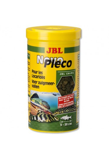 JBL NOVOPLECO PARA PECES ORNAMENTAL CHIPS 100 ML.