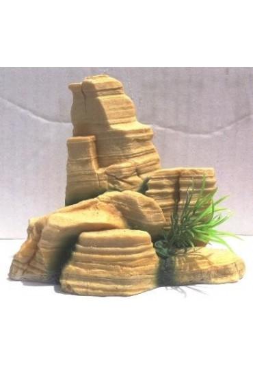 ARQUIVET DECORACION ROCA CON PLANTAS 12X6X10 CM