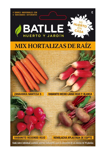 SEMILLAS MIX HORTALIZAS RAIZ-HC BATLLE