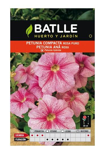 BATLLE SEMILLA DE PETUNIA COMPACTA ROSA PURO