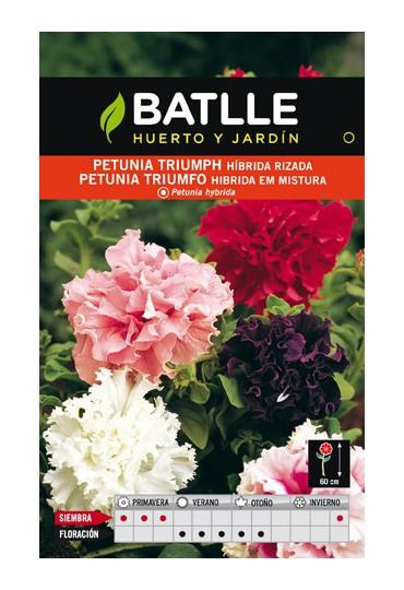 BATLLE SEMILLA DE PETUNIA TRIUMPH RIZADA