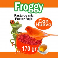 FROGGY PASTA DE CRIA PIGMENTANTE ROJO 170 GR