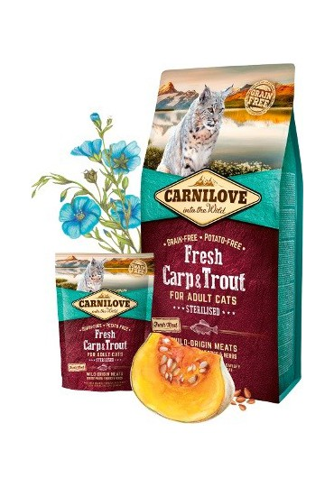 CARNILOVE FRESH CARP & TROUT STERILISED 2KG