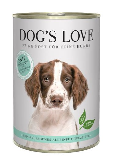 DOG'S LOVE HIPOALERGENICO PATO 400GR