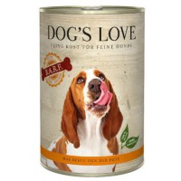 DOG'S LOVE BARF PAVO 400GR