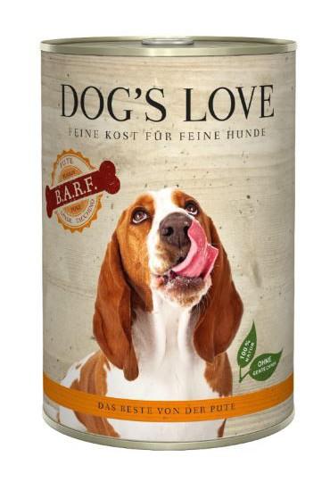 DOG'S LOVE BARF PAVO 400GR