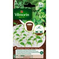 VILMORIN 4 DISCOS 10 CM AROMÁTICAS (ALBAHACA, CILANTRO, CEBOLLETA)