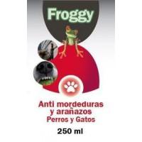 FROGGY ANTIMORDEDURAS Y ARAÑAZO PERRO-GATO 250ML