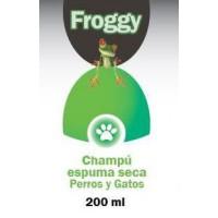 FROGGY CHAMPU ESPUMA SECA PERROS - GATOS
