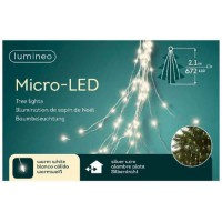 MICRO LUCES LED DESTELLA 210CM - 672L PLATA/BLANCO