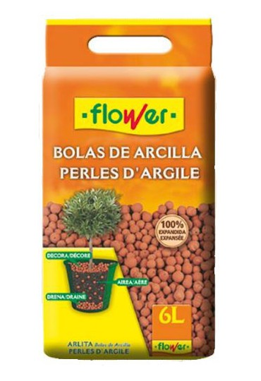 BOLAS DE ARCILLA 6 L. FLOWER