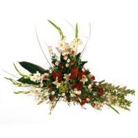 Centro para funeral de flores naturales