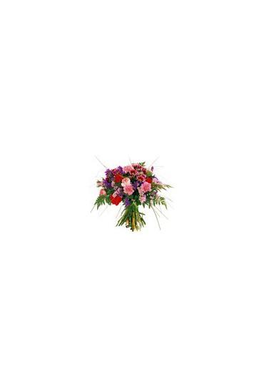 Ramo de flores frescas variado tonos rosas