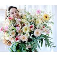 Ramo, Centro y Bouquet de flores naturales