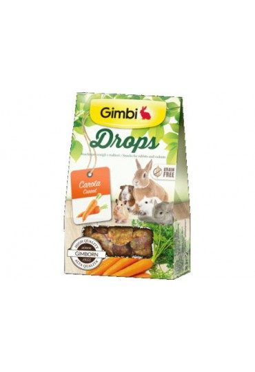 GIMBI DROPS ZANAHORIA, 50GR